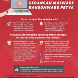 Inilah Langkah Hindari Serangan Ransomware Petya